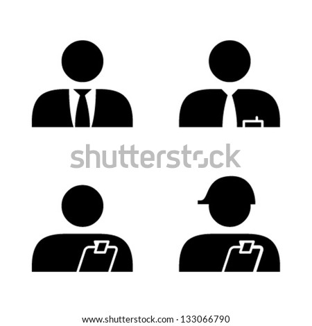 People icons. Job roles. Executive, manager,supervisor, team leader.