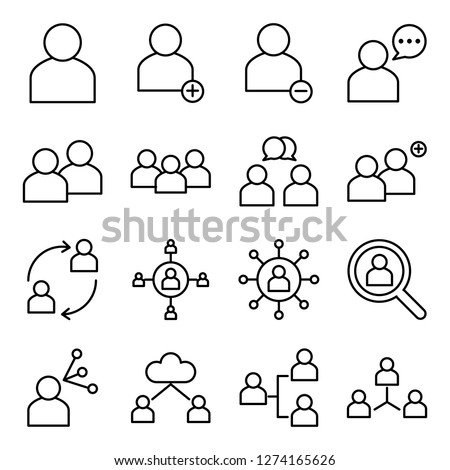 People icons pack. Isolated people symbols collection. Graphic icons element