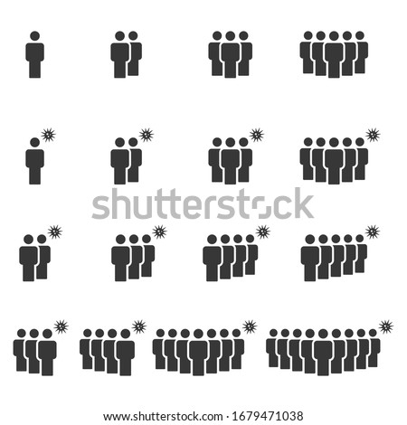 People Icons , Person work group Team Virus; Vector