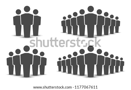 People icons set. Team icon. Group of people. Vector illustration