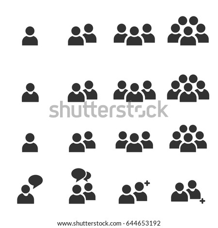 People Icons work group Team Vector