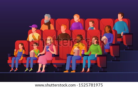people in movie hall kids and