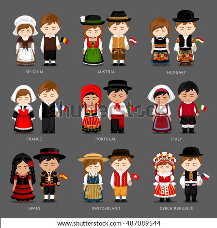 people in national dress