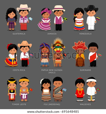 people in national dress timor