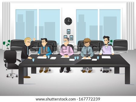 People In Office Vector Illustration Graphic Design