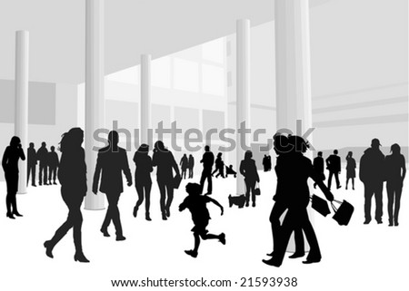 people in shopping center