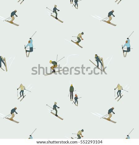 people in ski sport activity
