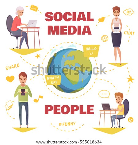 people in social media design