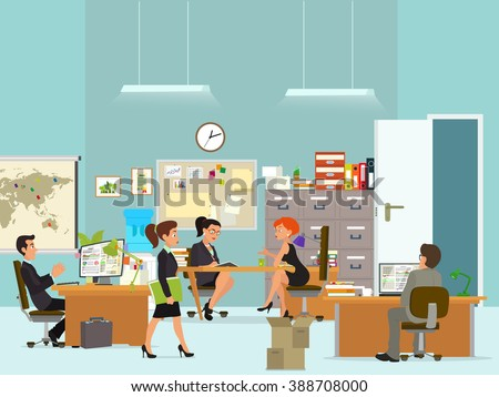 people in the office interior