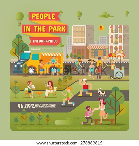 people in the park infographic