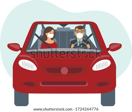 people inside the car wearing