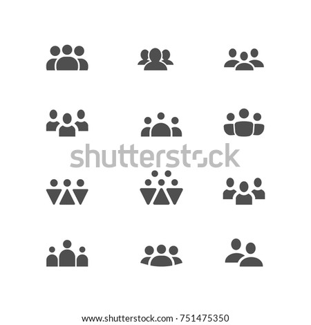 People line vector icon set. Persons symbol for your infographics, website design, logo.