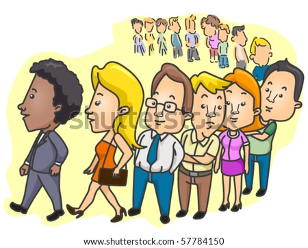 stock-vector-people-lining-up-vector-57784150.jpg (450×362)