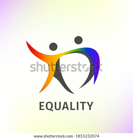 people logo couple colorful equality pride community symbol Stockfoto ©
