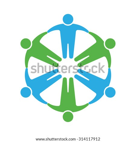 people logo holding hands in