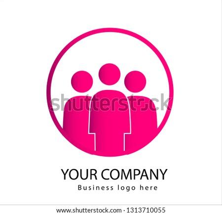 people logo three people