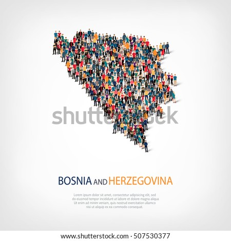 people map country bosnia and