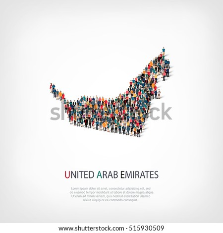 people map country UAE vector