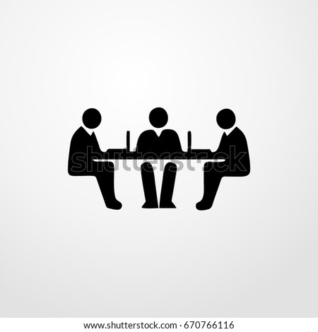 people meeting icon. vector sign symbol on white background