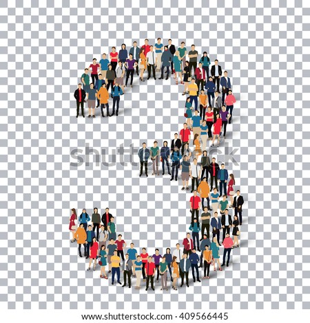 people number alphabet 3d