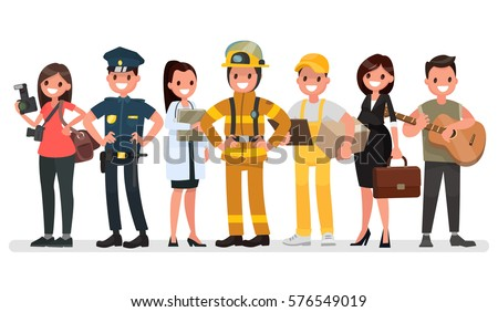 People of different professions. Labor Day. Vector illustration in a flat style