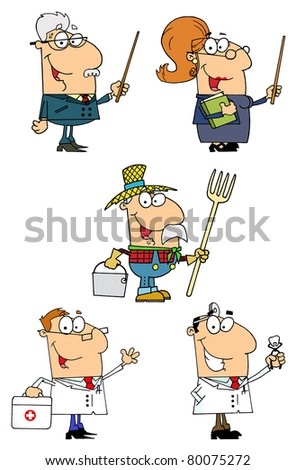 People Of Different Professions-Vector  Collection 3
