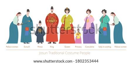 People of palace. flat design style minimal vector illustration.