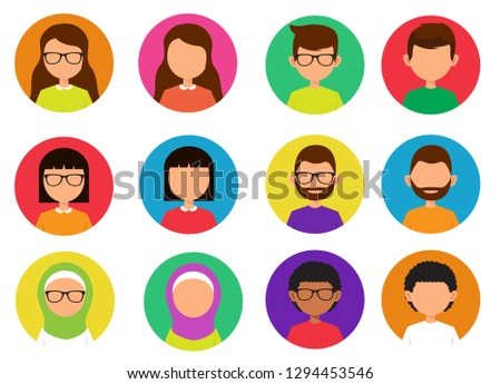 people person boy girl avatar flat icon illustration vector , people person boy girl avatar flat icon illustration vector