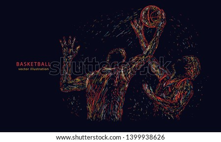 People play basketball. Moment of the game. Sport background