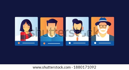 people profile board for user persona object for targeting market buyers