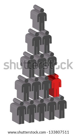 People Pyramid, Standing out from the crowd