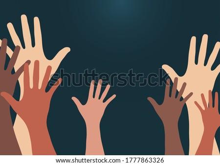 people raise their hands  vote