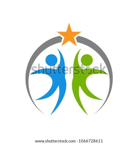 people reach star logo template