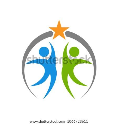 people reach star logo template
