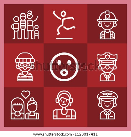 people related set of 9 icons