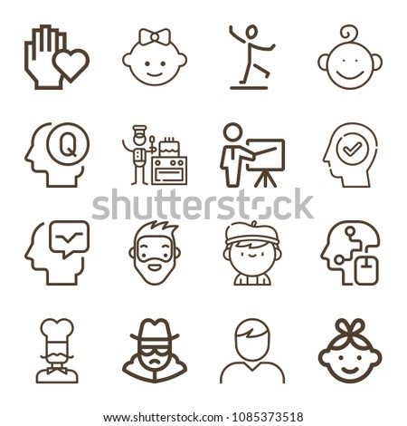 people related set of 16 icons