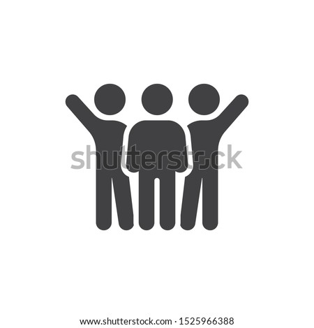 People relationship vector icon. brotherhood filled flat sign for mobile concept and web design. Friends, friendship glyph icon. Symbol, logo illustration. Vector graphics