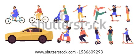 people riding cartoon