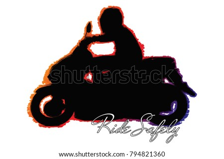 people riding motorcycle vector