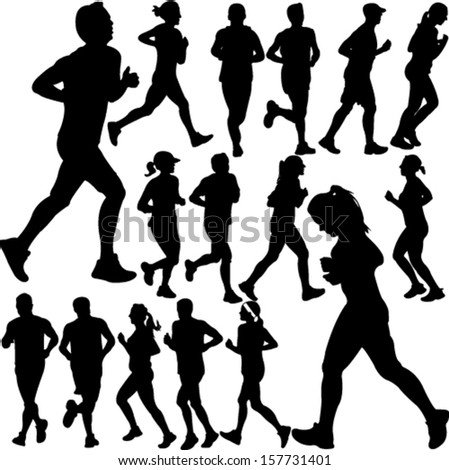 people running collection 1