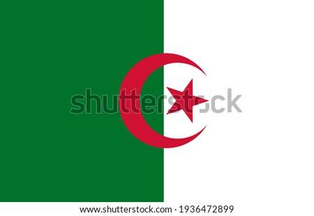 People's Democratic Republic of Algeria flag vector icon