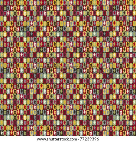 People seamless pattern background statistic