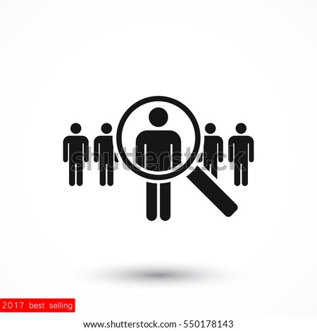people Search vector icon