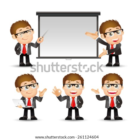 People Set - Business - Businessman giving presentation