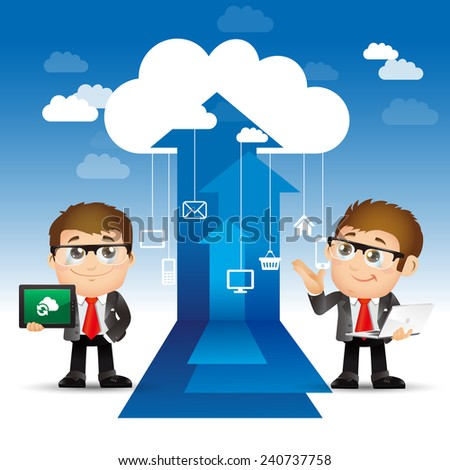 People Set - Cloud computing -Men internet concepts