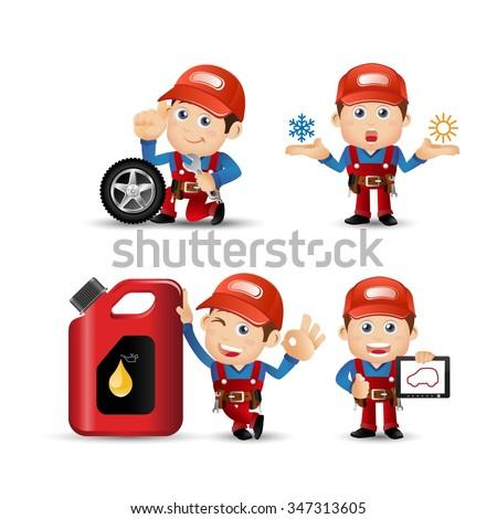 People Set - Profession - Mechanician set