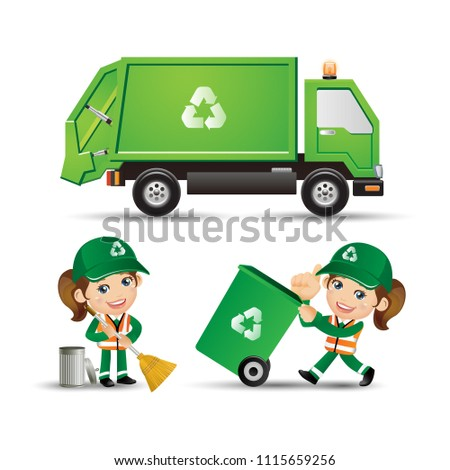 People Set - Profession - Street Cleaner
