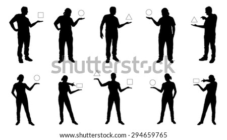 people showing silhouettes on