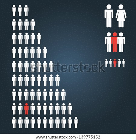 people silhouette over black background vector illustration