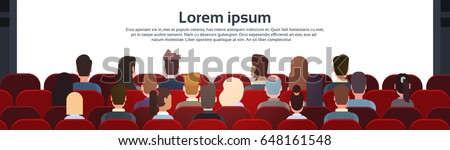 people sit cinema hall back